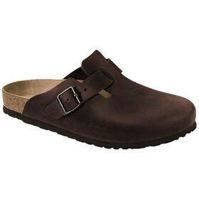 Birkenstock Boston Clogs Nubuck Leather Regular, marrón